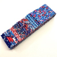 Quilter's Pre-cut 20pc Fabric Strip Set in Liberty Carnaby Street Blue