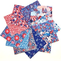 <!-- 001 -->Quilter's Pre-cut 42pc Charm Pack in Liberty's Carnaby Street Blue