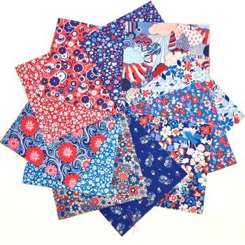 Quilter's Pre-cut 42pc Charm Pack in Liberty's Carnaby Street Blue