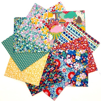 Quilter's Pre-cut 42pc Charm Pack in Liberty's Carnaby Street Green