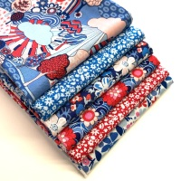 Liberty Carnaby Street Fat Quarter Bundle in Blue - 6 pieces
