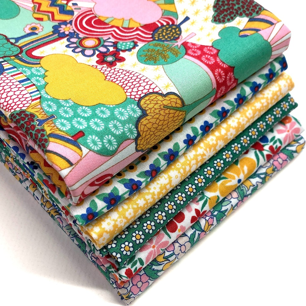 Liberty Carnaby Street Fat Quarter Bundle in Green - 6 pieces
