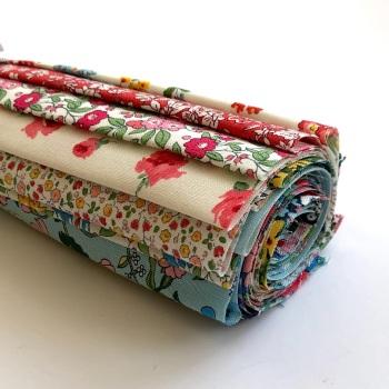 "Liberty Flower Show Midsummer Fabric Roll - 10"" Squares - 15pcs"