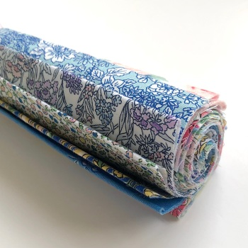 """Liberty Flower Show Spring Fabric Roll - 10"""" Squares - 15pcs"""