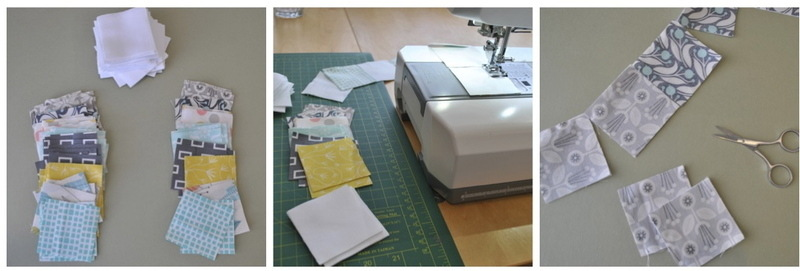 Sewing first squares