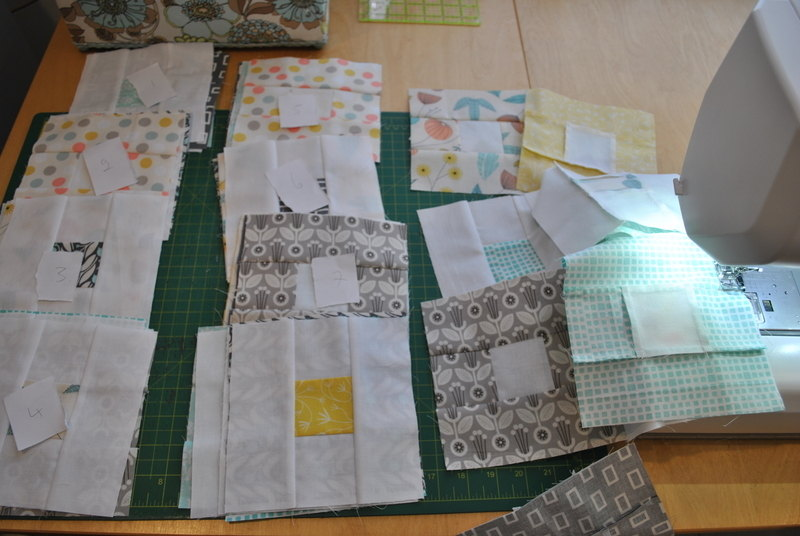 Sew blocks together