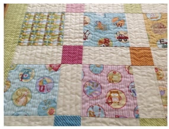 Novelty nine patch quilt detail