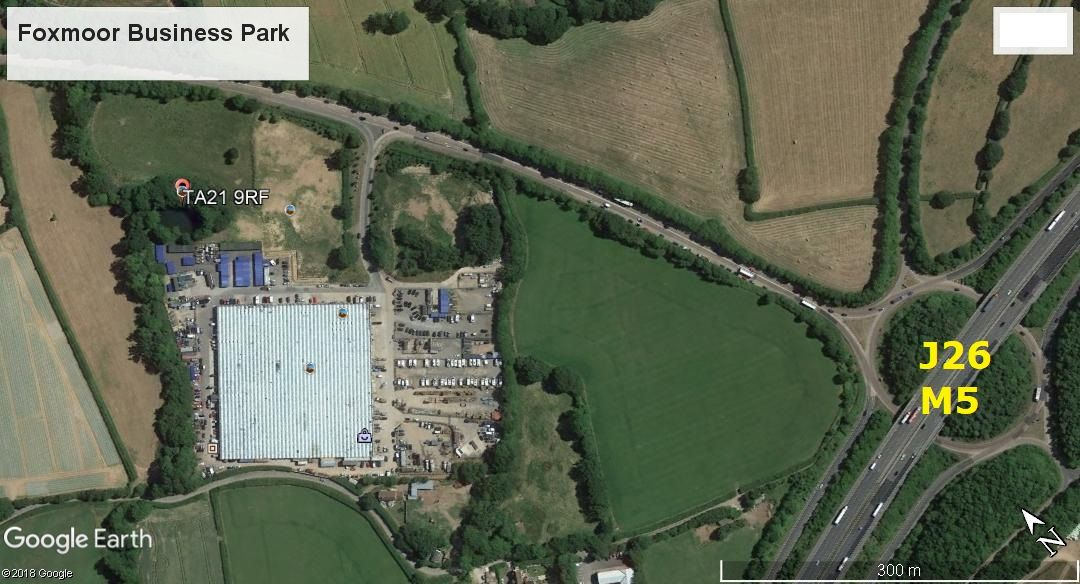 Foxmoor Business Park - aerial view