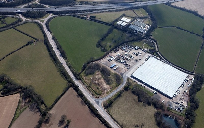 Foxmoor Business Park - aerial view J26M5 low res
