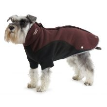 Ancol Muddy Paws Xtra Warm Thermal Dog Fleece Burgundy & Black All Sizes