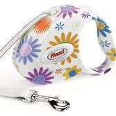 Flexi Fashion Small London Flowers Floral Dog Lead 3m 10ft