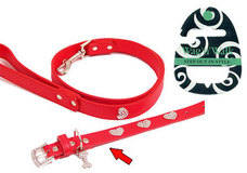 Red Love Bling Diamante Dog Collar