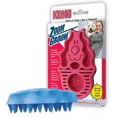 Kong Zoom Groom Massage Brush Pet Dog