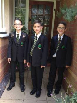 triplets first day of high school