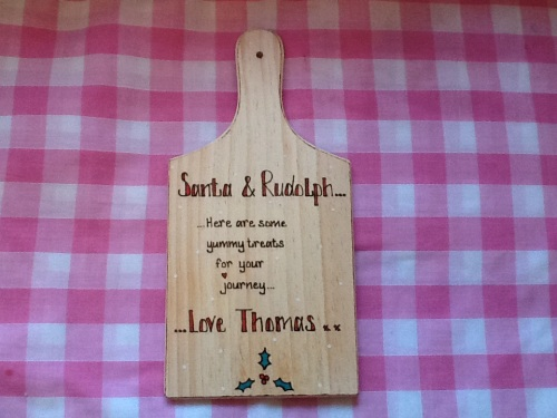 santa rudolph treat chopping board