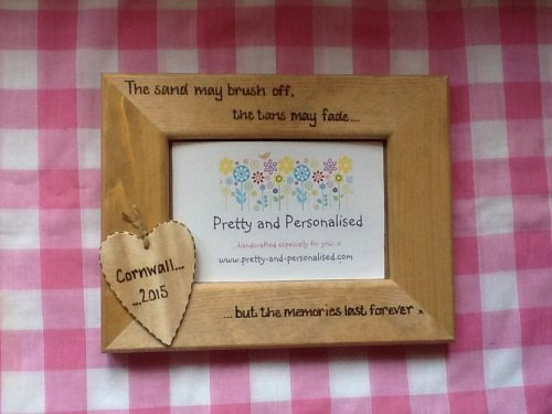 personalised photo frame for holiday memories