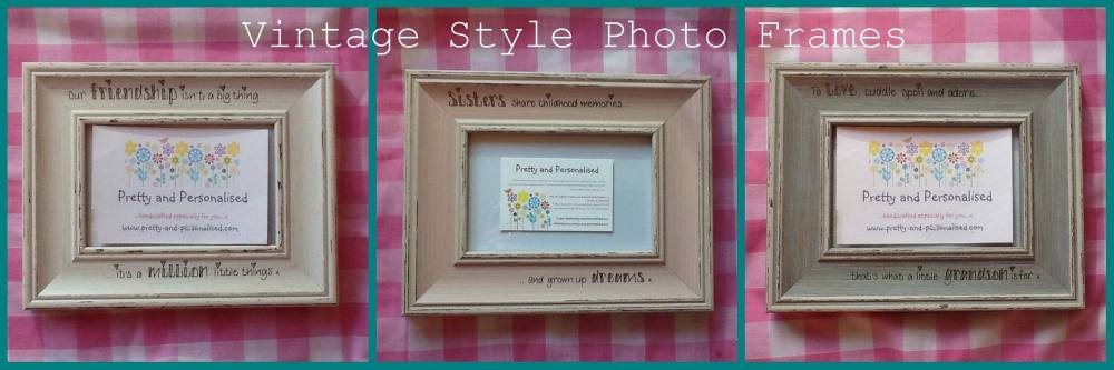vintage personalised photo frames