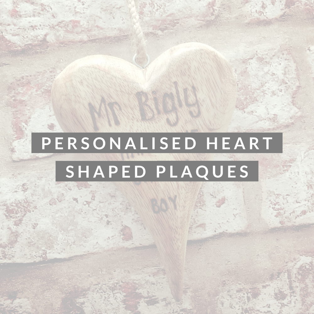 <!-- 013 -->Personalised Wooden Heart Plaques