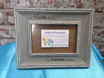 Best friends nan grandad personalised shabby chic frame