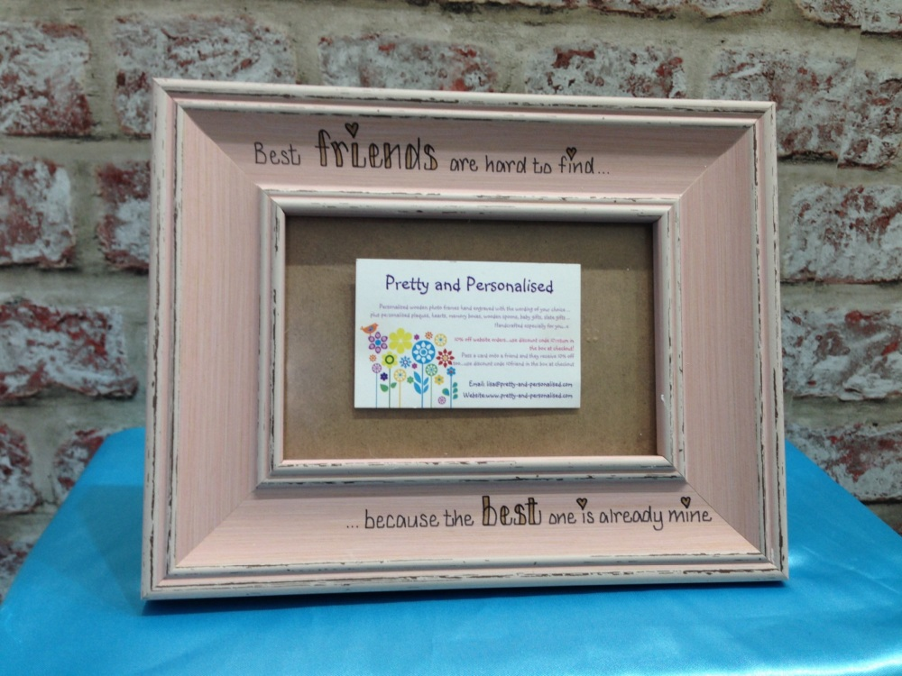 Personalised photo frame in a distressed shabby chic grey finish ...