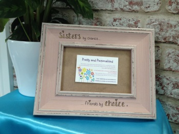 Sister friends personalised shabby chic photo frame