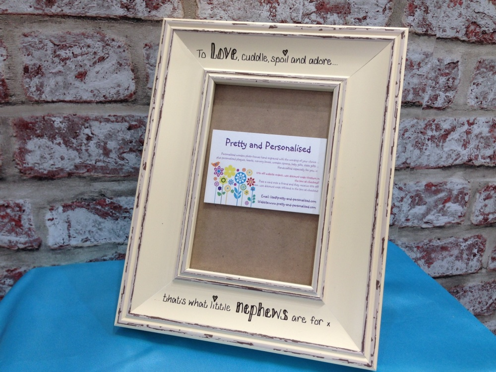 Shabby Chic Personalised Nan Grandad Photo Frame