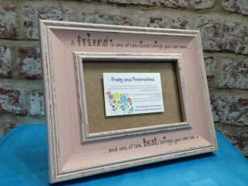 Friend personalised shabby chic photo frame
