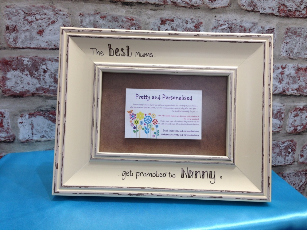 Best Mum Nan Personalised Shabby Chic Photo Frame