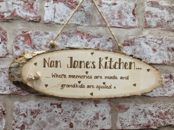 Personalised wooden kitchen plaque Nan / Grandma / Auntie
