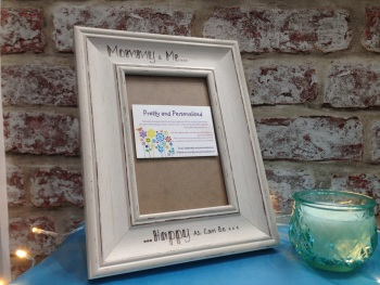 Mummy / nanny personalised shabby chic photo frame