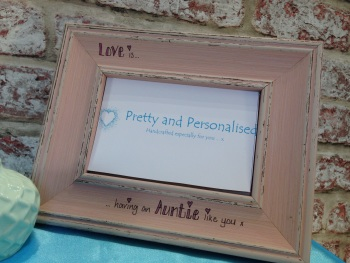 Shabby chic auntie mum photo frame