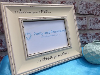 Mum friend personalised shabby chic photo frame