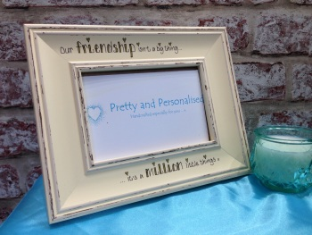 Friendship million little things shabby chic photo frame