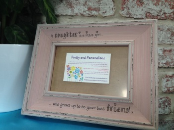 Daughter friend shabby chic personalised photo frame