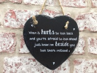 Personalised slate heart sign / plaque for love partner / friend