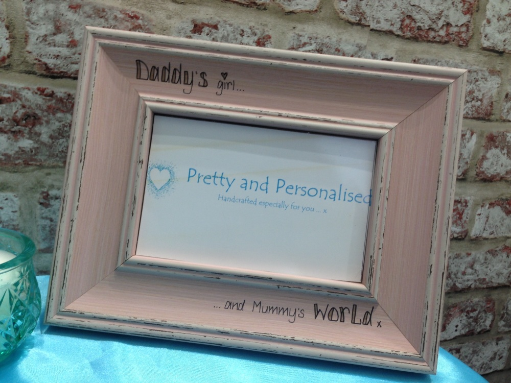 Personalised photo frames   Hand engraved by Pretty and Personalised