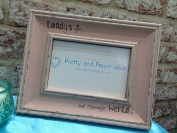 Daddy's girl, mummy's world shabby chic photo frame