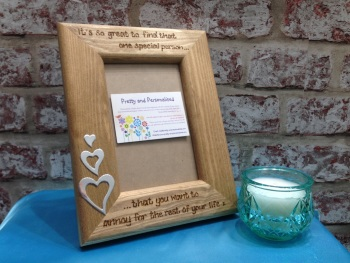 Funny anniversary engraved photo frame