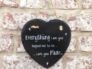 Design your own personalised slate hanging heart