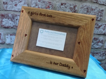 Personalised wooden photo frame for a special Dad