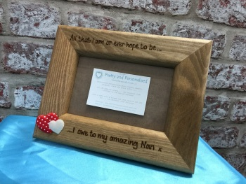 Personalised wooden photo frame with mum quote for Mother's day