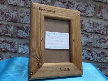 Bridesmaid wedding personalised photo frame gift