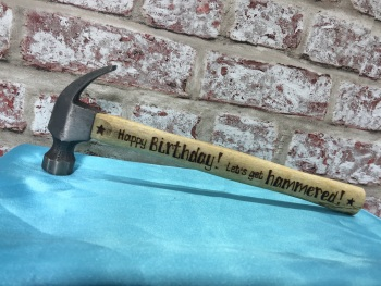 Let's Get Hammered / Birthday - Personalised Hammer
