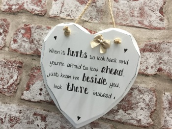 Personalised shabby chic heart plaque husband / wife / friend