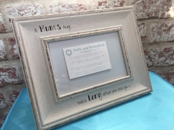 Mum's hug shabby chic photo frame