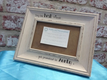 Grey shabby chic personalised photo frame