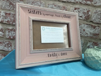 Pink shabby chic personalised photo frame