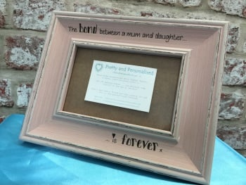 Mum daughter personalised shabby chic photo frame