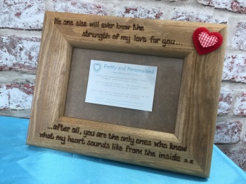 Mum baby love quote engraved photo frame