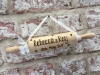 Personalised rolling pin wedding / anniversary gift
